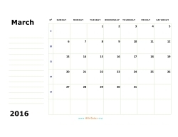 march 2016 calendar sunday 02