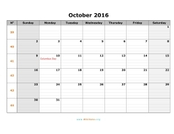 october 2016 calendar sunday 01