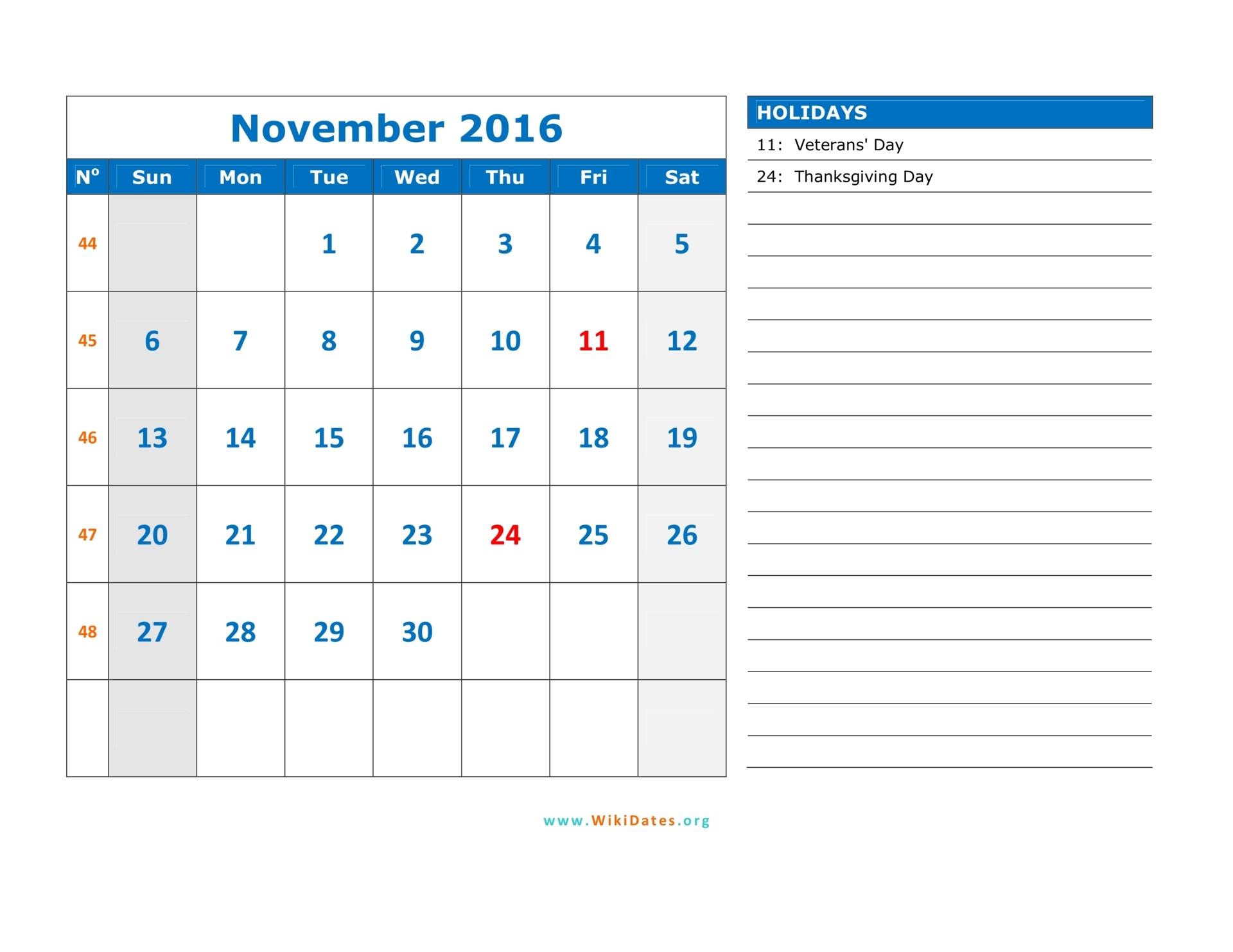 2016 Calendar Templates Monday To Sunday | Calendar Template 2016