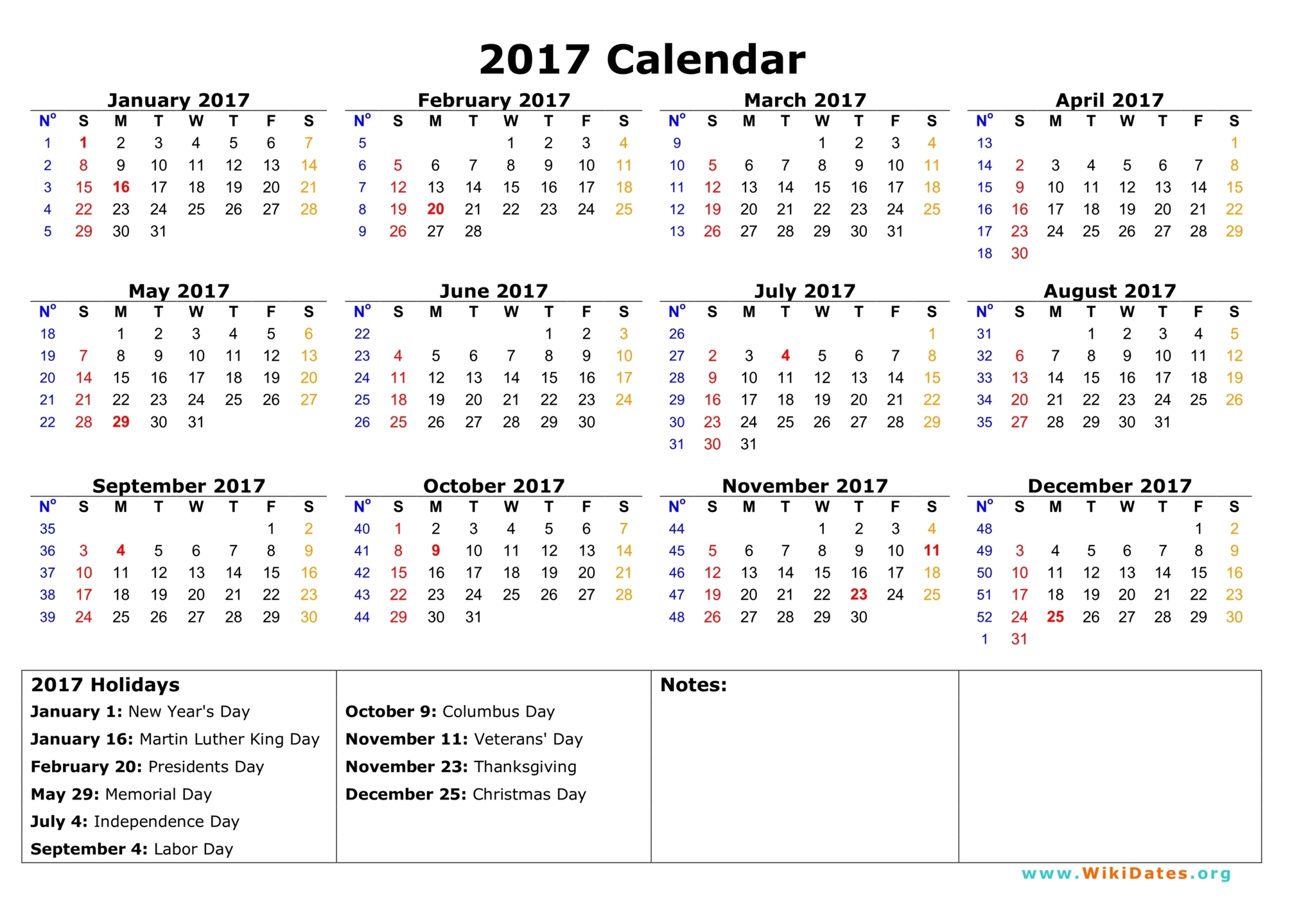 August 2017 Calendar with Holidays Printable, August 2017 ...