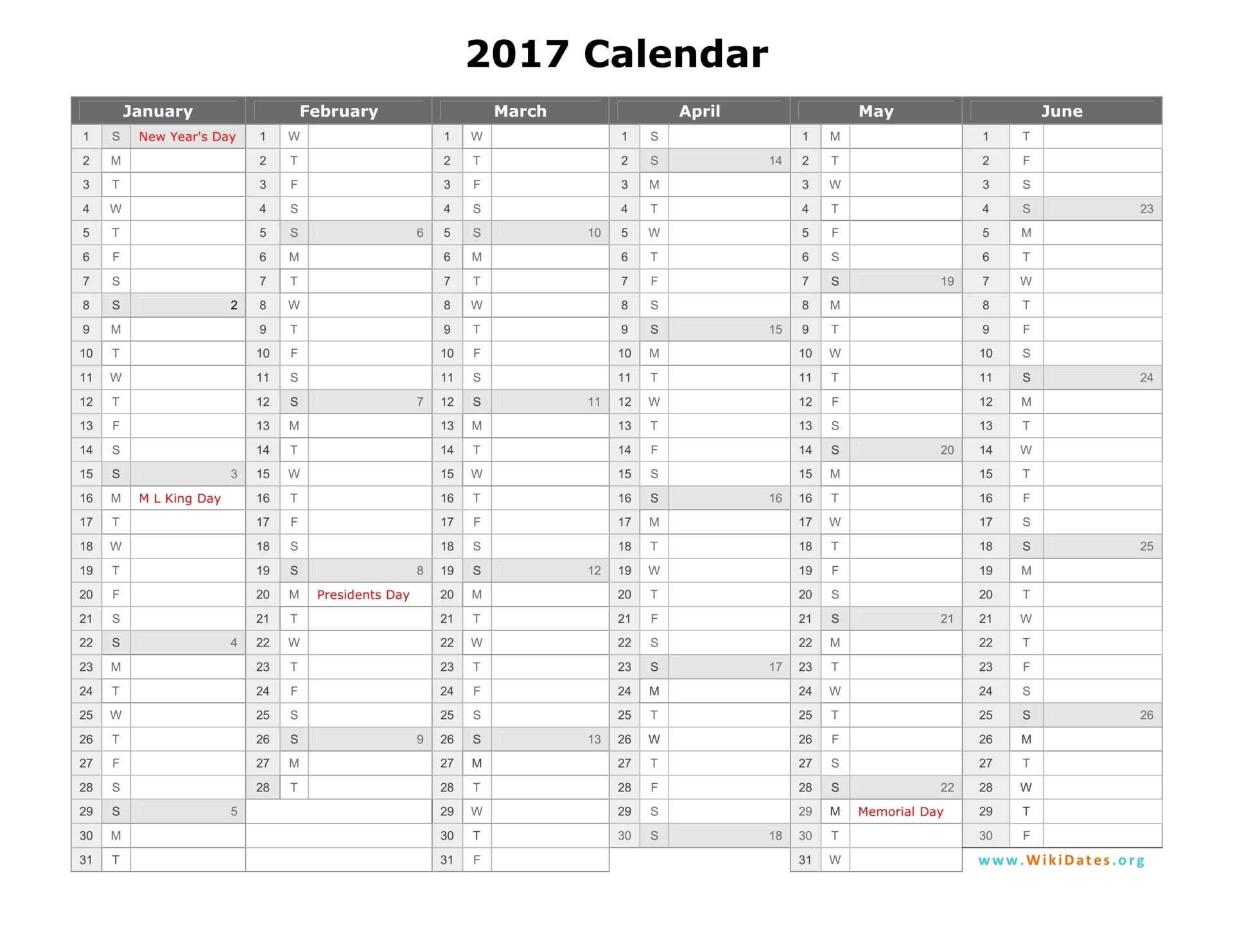 downloadable printable calendar