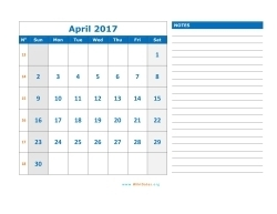 april 2017 calendar sunday 03