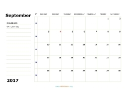 september 2017 calendar sunday 02