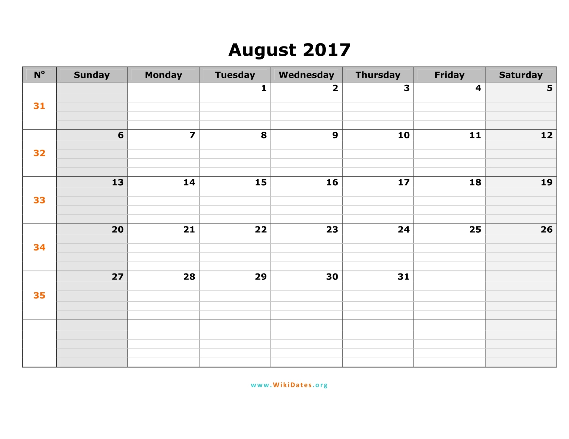 Printable 2017 Calendar | All Monthly Printable Calendar ...