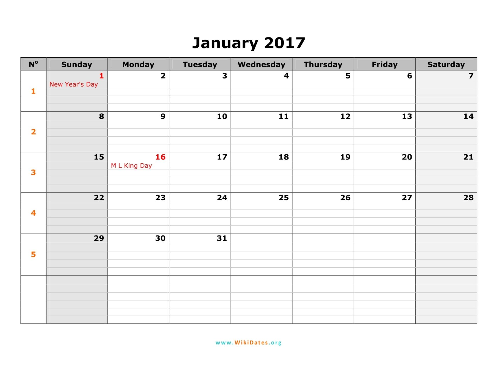 Download incredible calendar