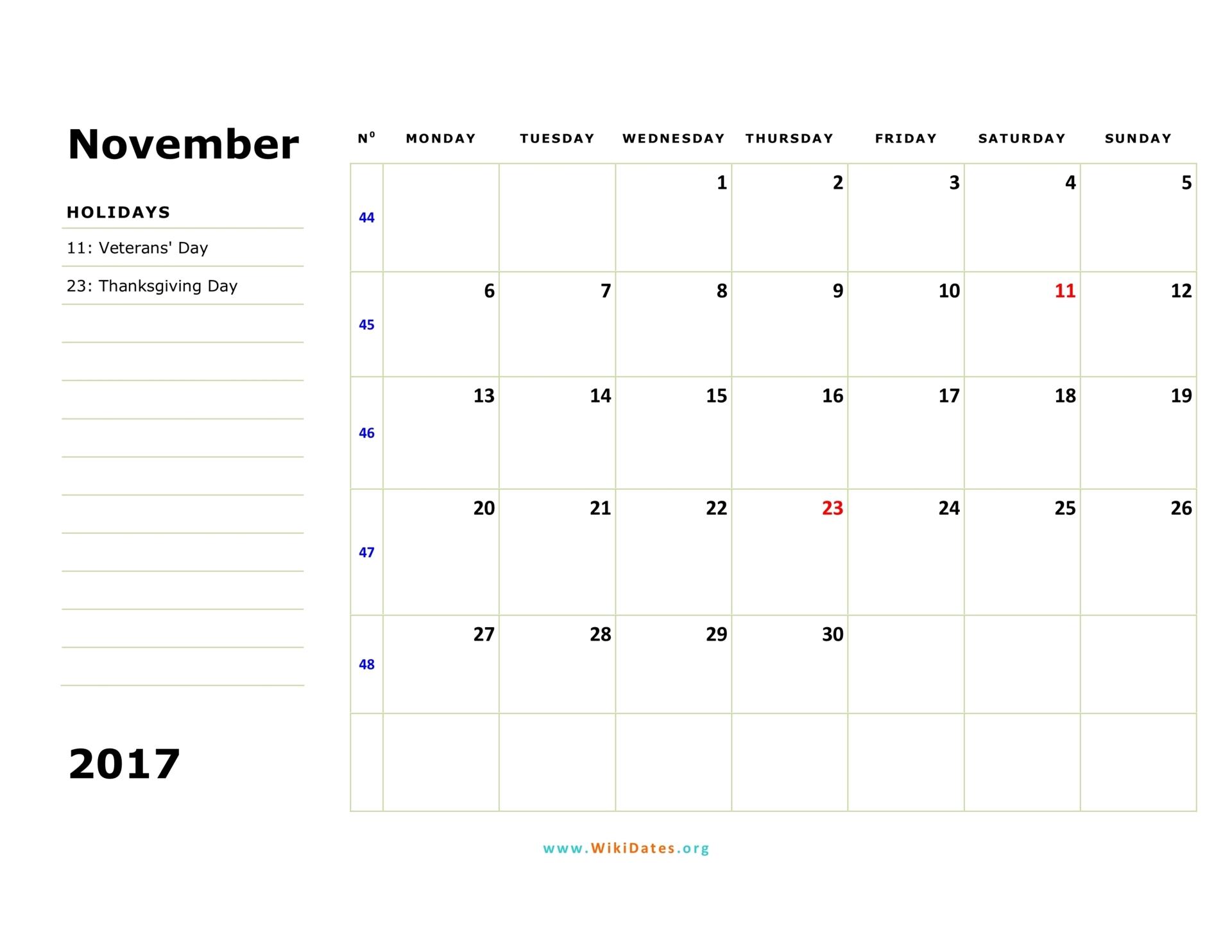 november 2017 calendar monday 02