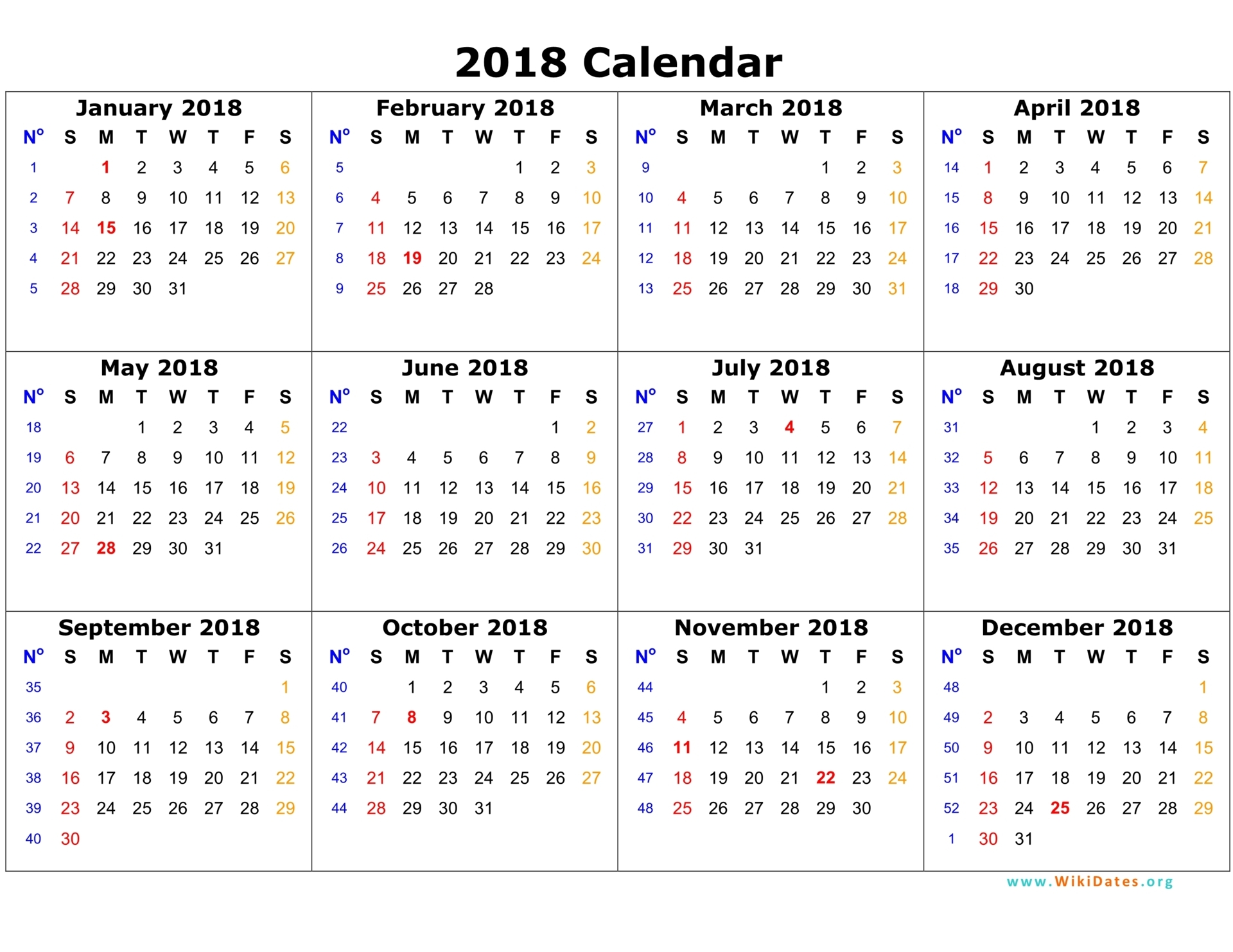 Image result for calendar 2018