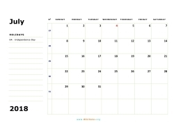 july 2018 calendar sunday 02