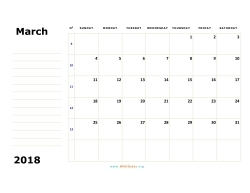 march 2018 calendar sunday 02