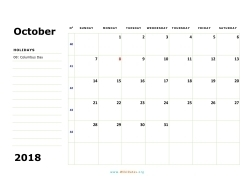 october 2018 calendar sunday 02