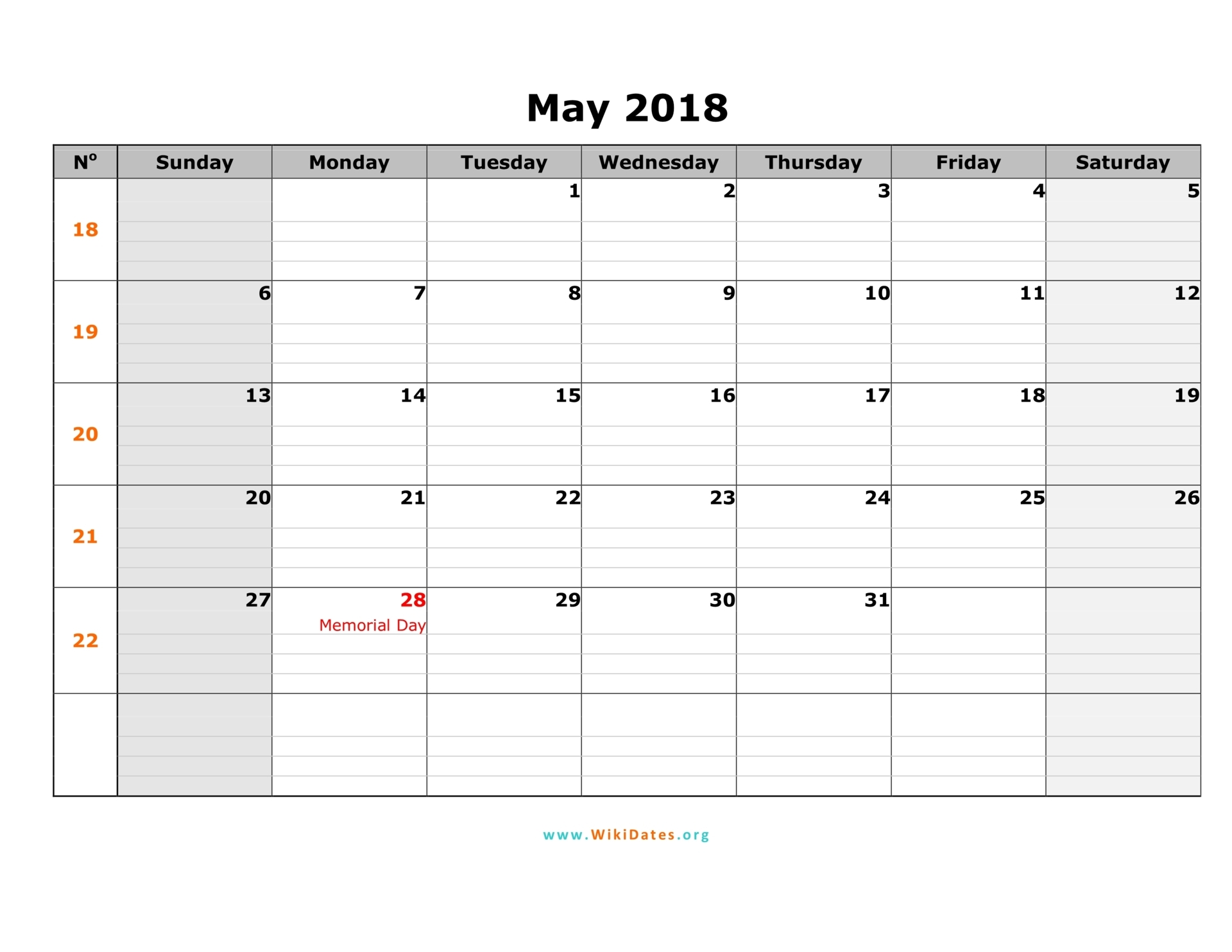 may 2018 calendar sunday 01