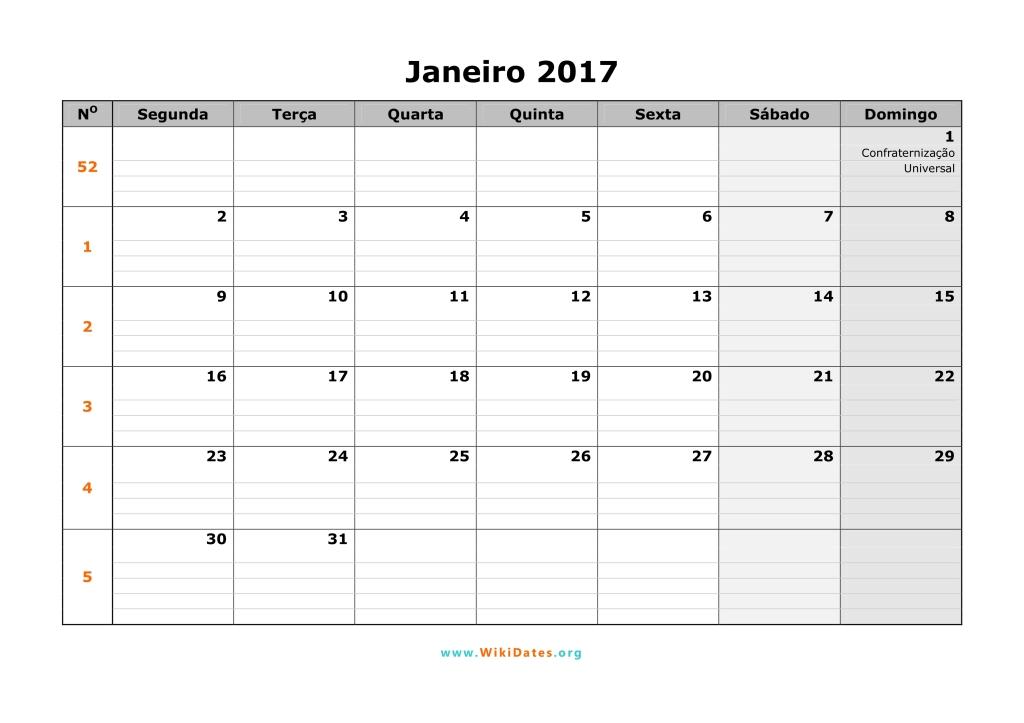 Calendário 2017   WikiDates.org