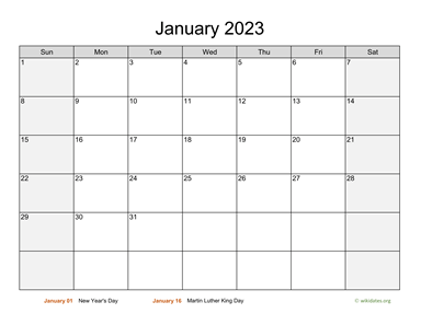 Monthly 2023 Calendar with Weekend Shaded