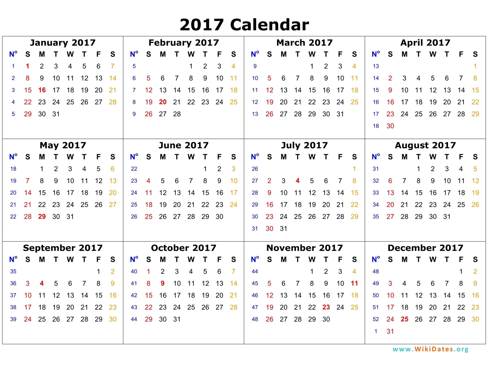 2017 calendar template 03
