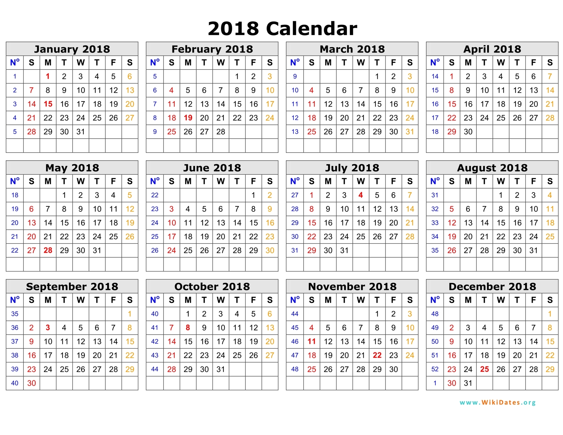 "2018 Dry-Erasable Wall Calendar 38"" x 75"""