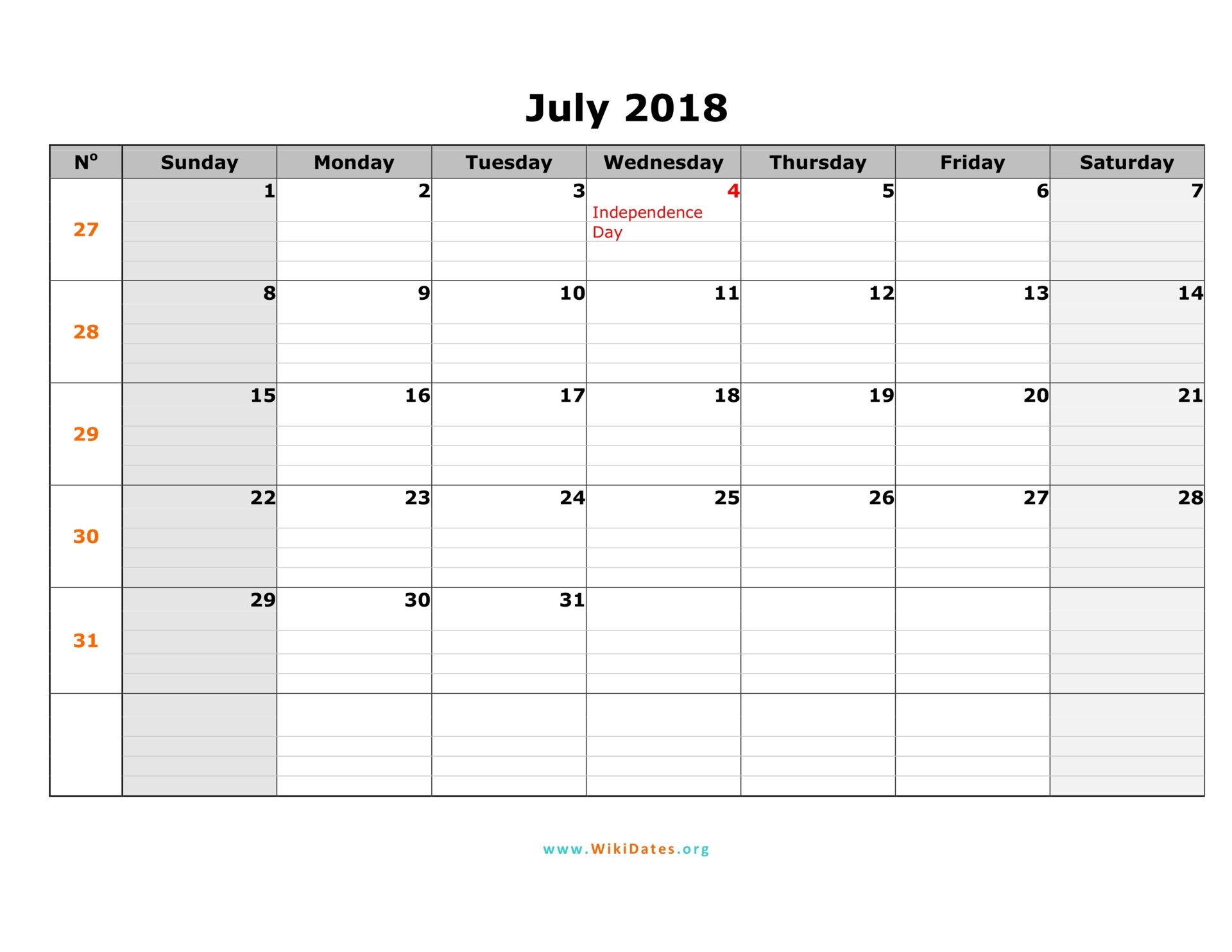 Printable Calendar 2018 Vector - Download Free Vector Art ...