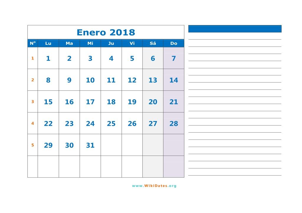 Calendario 2018 - Calendario de España del 2018   WikiDates.org