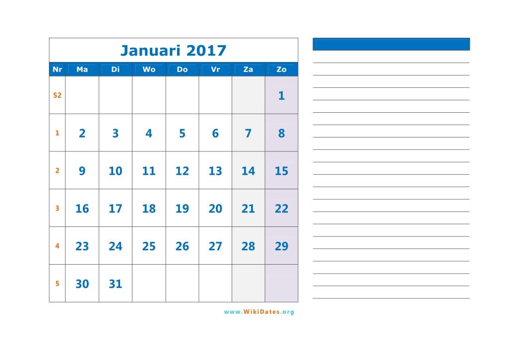 maandkalender 2017 03