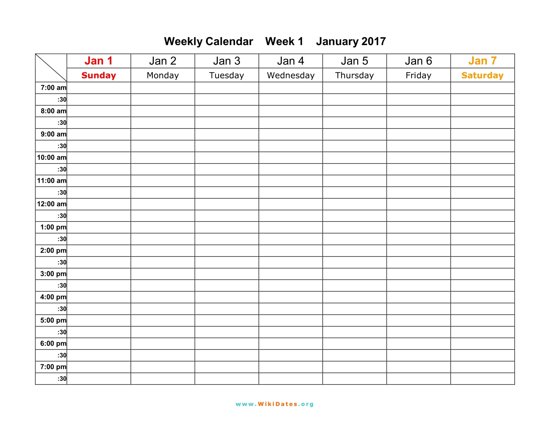 Weekly Year Calendar : Weekly calendar download and